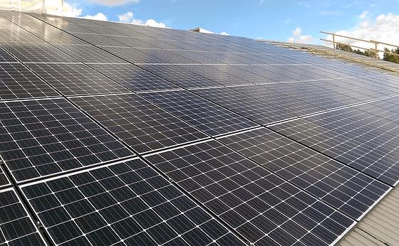 Solcellepanel for skråtak